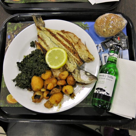 Grilled Dorada with Spinach, Baby Potatoes, and Vinho Verde