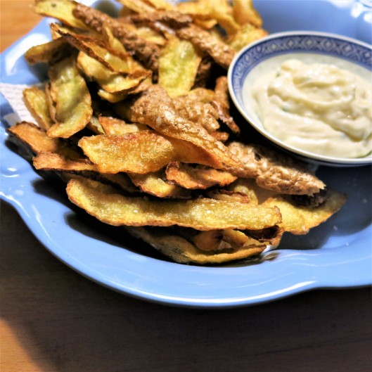 "Deep-Fried Potato ""Peelings"""