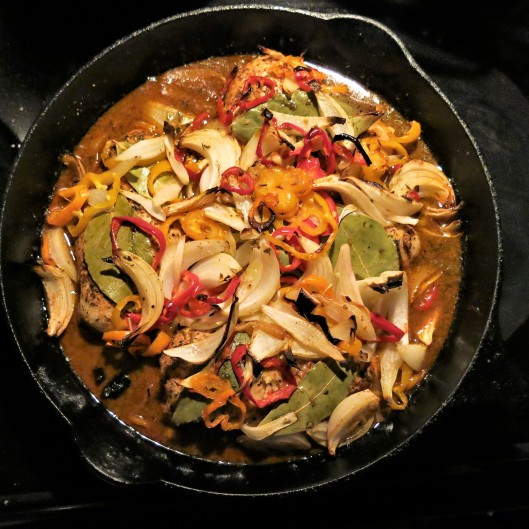 Chicken with Peppers and Onions, Portuguese-Style