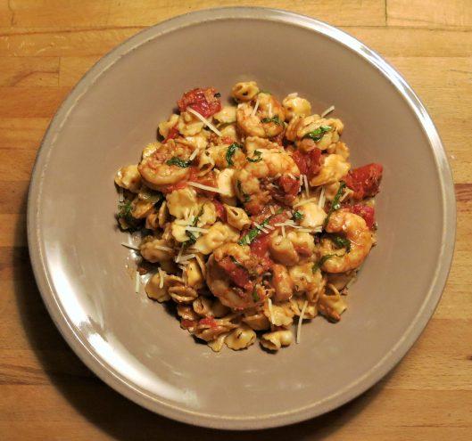 Quick Shrimp-Tomato and Herb Sauce