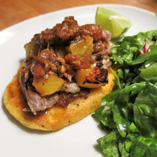 Spiced, Braised Pork Shoulder with Roasted Pineapple