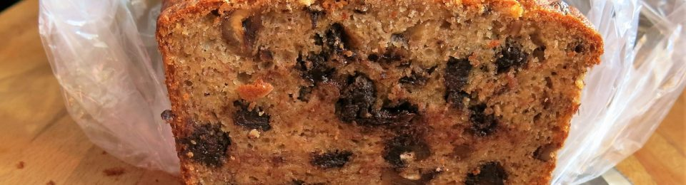Boozy Banana Bread with Chocolate and Toasted Nuts
