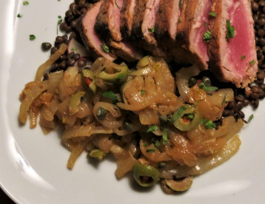 Portuguese-Style Tuna Steaks with Onions