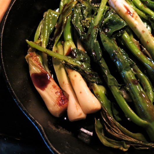 Hoisin-Sauced, Roasted Gai Lan and Spring Onions