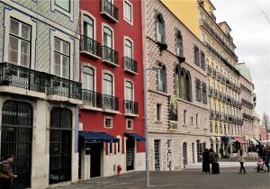 Street with Casa do Bicos - Alfama