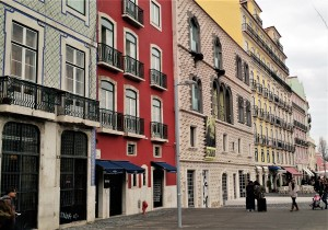 Street with Casa do Bicos - Alfama