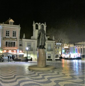 Statue on the Square Near the Harbor - Cascais - Portugal