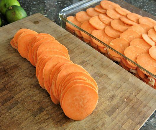 Savory Layered Sweet Potatoes