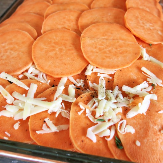 Savory Layered Sweet Potatoes
