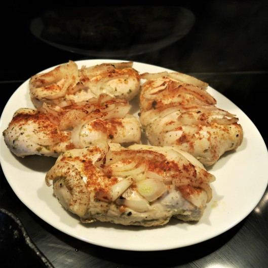 Baked Chicken Breasts with Mojito Sauce