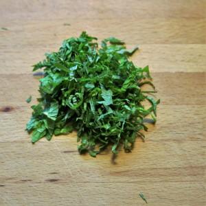 Julienned Mint Leaves