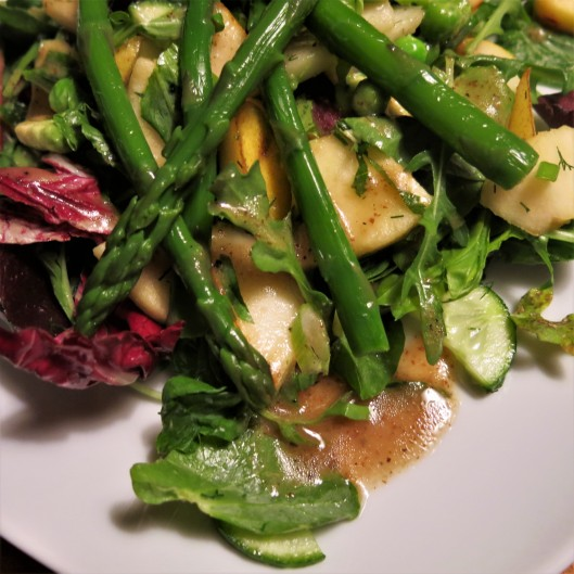 Mustard-Maple Vinaigrette on Field of Greens Salad