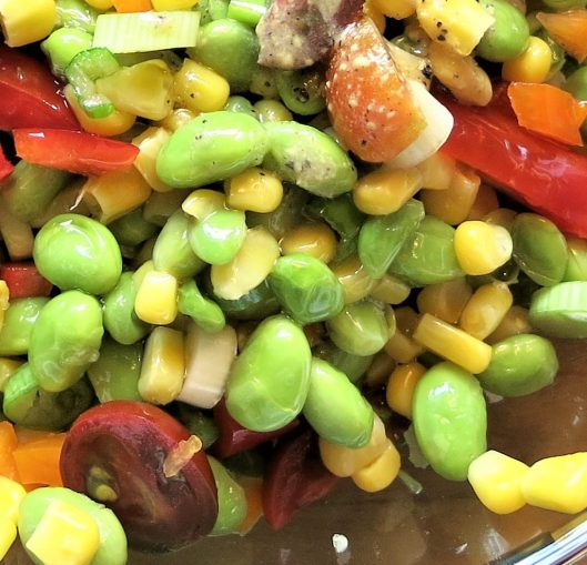 Edamame, Corn, and Tomato Salad with Herbs