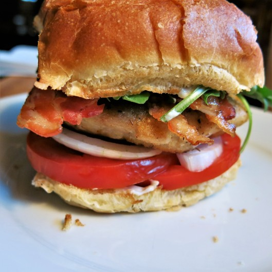 Pork Schnitzel Sandwich with Applesauce-Allspice Aïoli