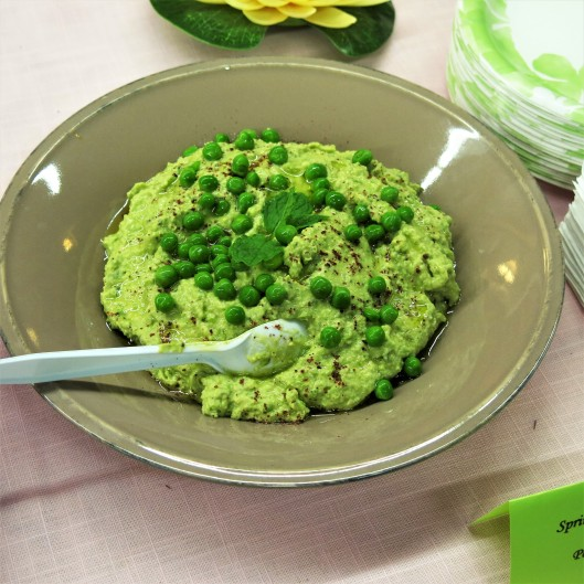 Pea Green Pea Hummus with Meyer Lemon and Mint