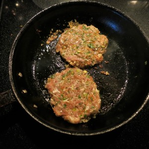 Chicken Burgers with Scallions, Ginger and Thai Flavors