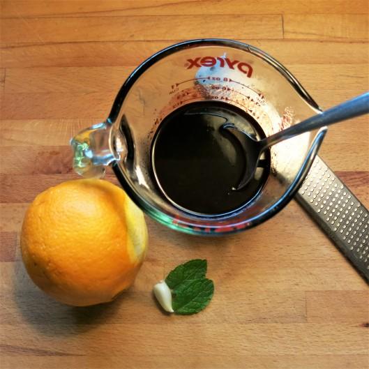 Blackberry Vinaigrette with Orange and Mint