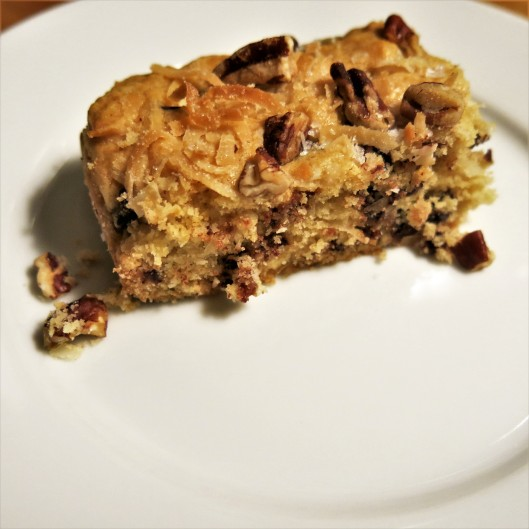 Chewy Chocolate Chip-Coconut Bars
