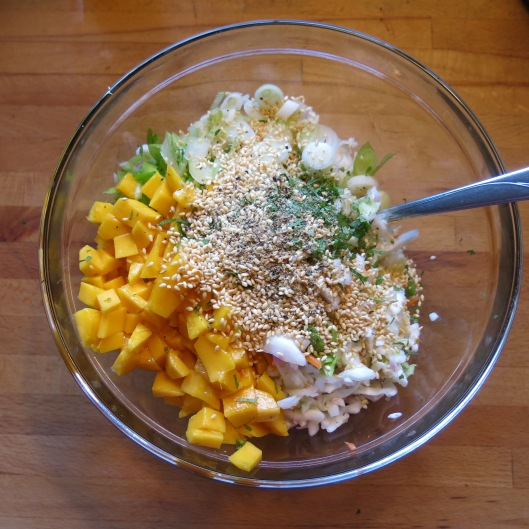 Mango-Cabbage Slaw with Sweet Chile Vinaigrette