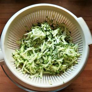 Salted Shredded Zucchini