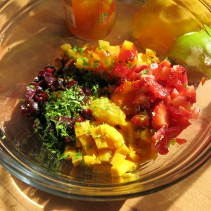 """Summer Fruit """"Crudo"""" with Basil"""