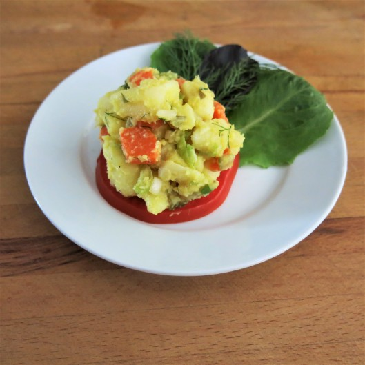 Take-Along, Dill Pickle-Mustard Potato Salad (No Mayo!)