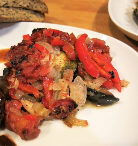 Eggplant, Zucchini and Tomato Casserole with Lebanese 7-Spice