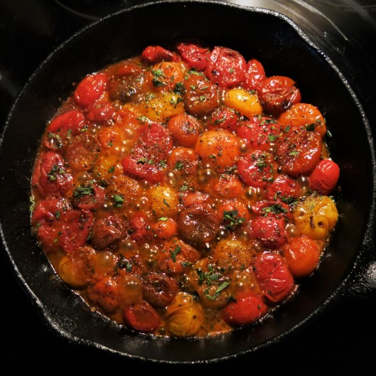 Herbed Tomato Tarte Tatin with Lemon-Ricotta