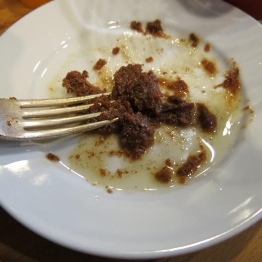 Mashing Anchovies for Spanish Caesar Salad