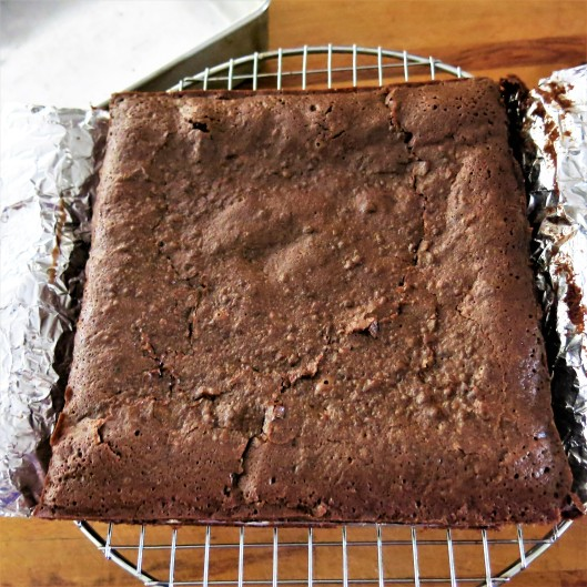 Mocha-Bourbon Chewy, Fudgy Brownies