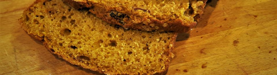 Spiced Pumpkin Bread with Cranberries and Dates
