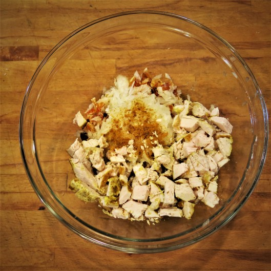 Hint-of-Curry Chicken Salad with Cilantro and Toasted Pecans