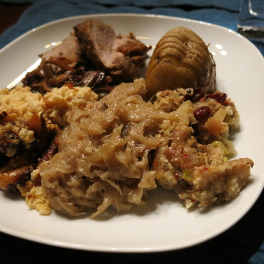 Oma's Sauerkraut with Apple, Onion and Bacon