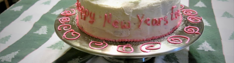 Happy New Year Chocolate Cake