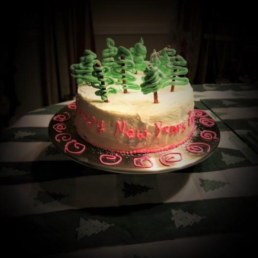 Happy New Year Chocolate Cake
