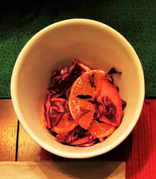 Danish Red Cabbage Salad with Apples & Mandarins