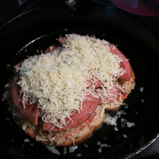 "Fried Bologna ""Reuben"" Sandwich"