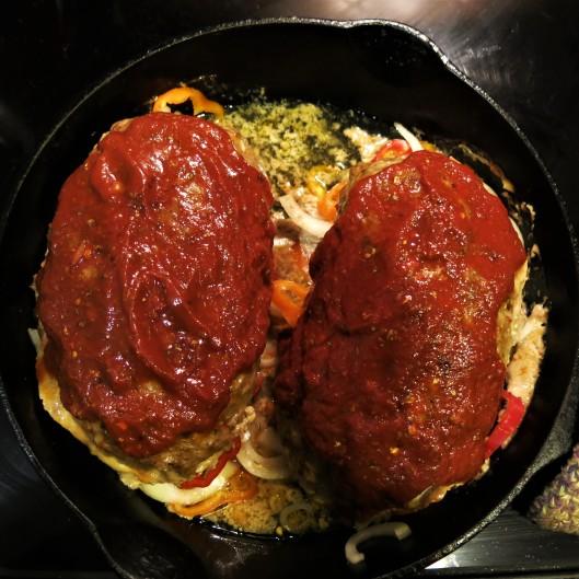 Skillet Pizza-in-a-Meatloaf