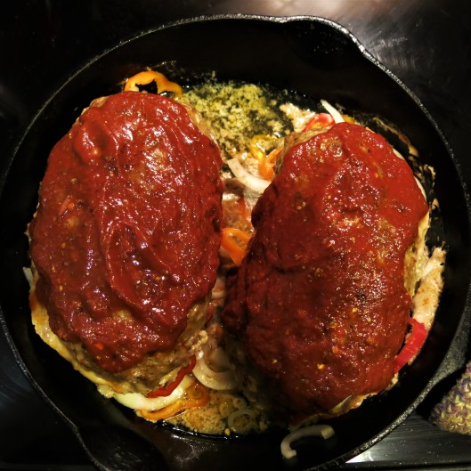 Skillet Pizza-in-a-Meatloaf
