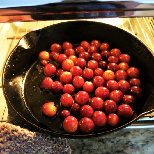 Roasted Red Grapes with Blueberries