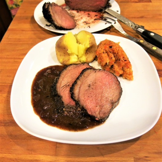 Sunday Dinner Rump Roast with Onion Gravy
